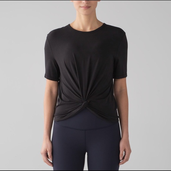 lululemon athletica Tops - Lululemon Crescent Tee Black 6